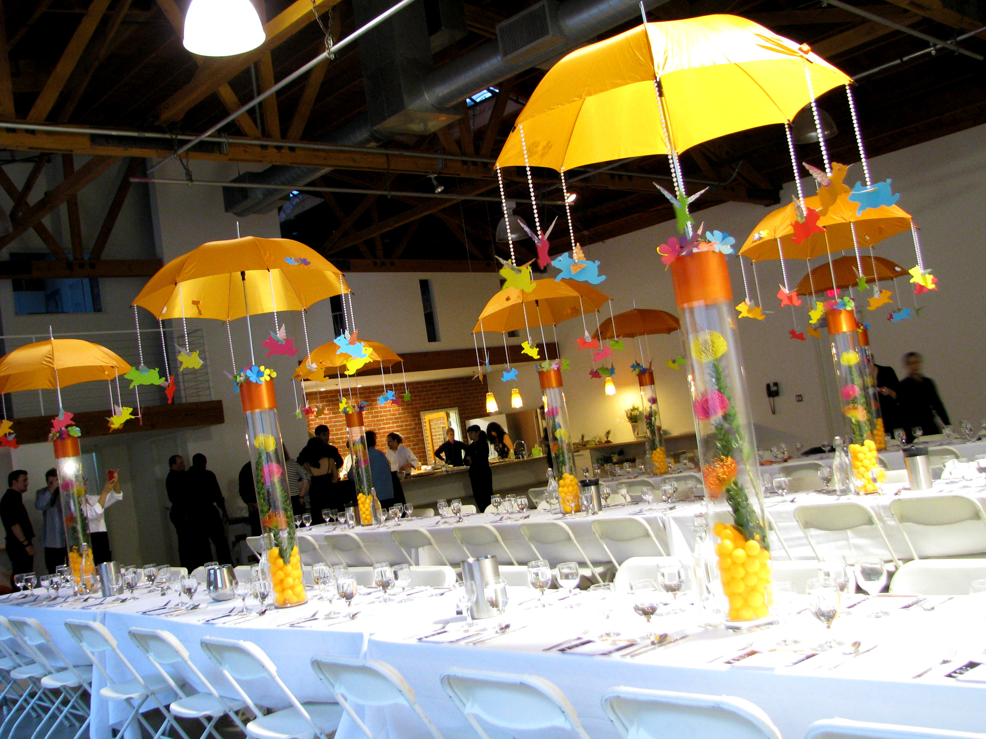 Flying pig centerpieces jonathan fong style