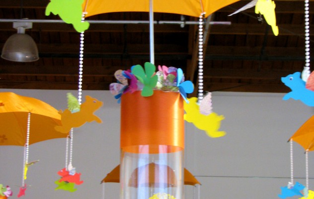 Flying Pig Centerpieces - Under the Umbrella